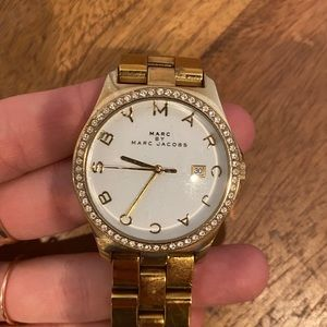 Gold Marc Jacobs Diamond Watch